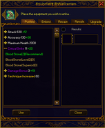 Refining interface item opened plain