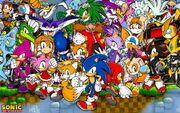 Sonic the hedgehog and friends wallpaper by sonicthehedgehogbg-d5x341d zps72d5523d