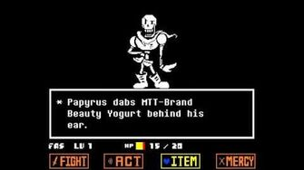 Undertale - Papyrus Boss Fight