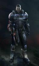 Commander Shepard in armour