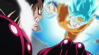 SUPER SAIYAN BLUE GOKU vs LUFFY GEAR 4! Dragon Ball Z x One Piece 3DS Crossover