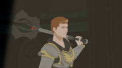 Cardin with his mace