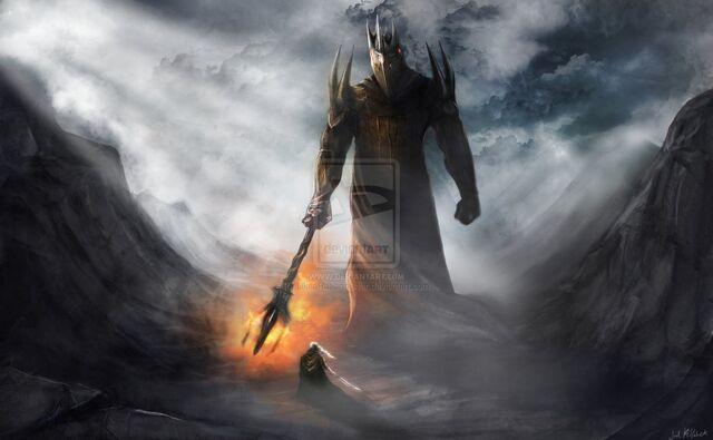 File:Morgoth and fingolfin by likearussianbear-d4l7kqe.jpg