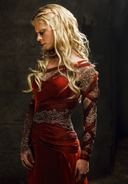 Morgause in a Red Dress