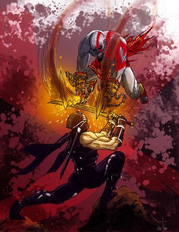 File:Kratos vs ryu by elitukes-d4rhsm0.jpg