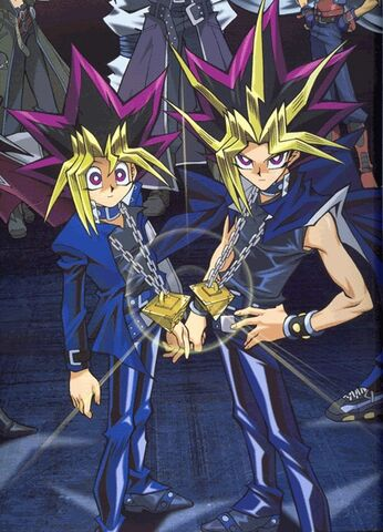 File:Yugi & Atem in Waking Dragons.jpg