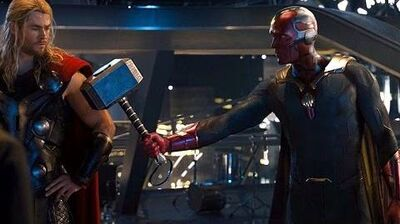 Avengers- Age of Ultron - Vision lifts Thor's Hammer (Scene) Movie CLIP HD