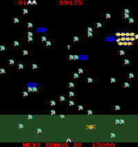 Millipede arcade screenshot