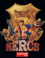 MERCS arcade flyer