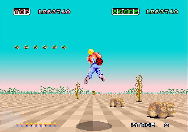 File:Space Harrier X68000 screenshot.png