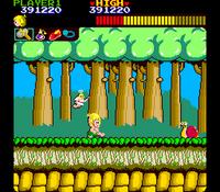 Wonder Boy arcade screenshot