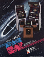 Space Zap arcade flyer