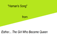 Haman's Song title card