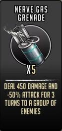 Nerve gas grenade