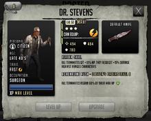 Dr. Stevens - Max Stats