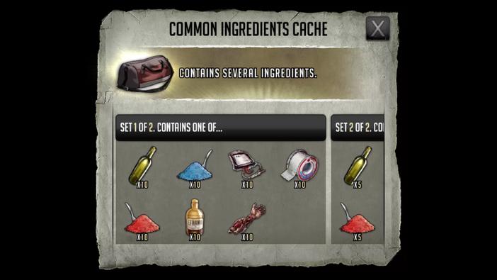 Ingredientscache