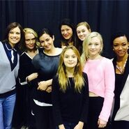 The women of walking dead Emily looks really pretty here compared to the others