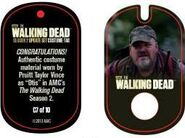 The Walking Dead - Dog Tag (Season 2) - Pruitt Taylor Vince C7 (AUTHENTIC WORN COSTUME PIECE)