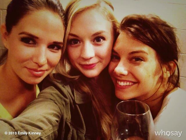 File:Emily and Lauren with someone who looks familiar.JPG