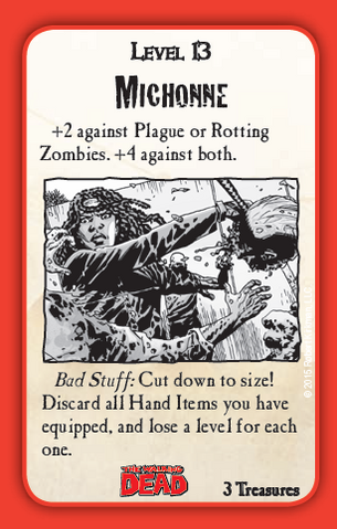 File:Munchkin Zombies- The Walking Dead Michonne card.png