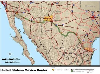Map of the border