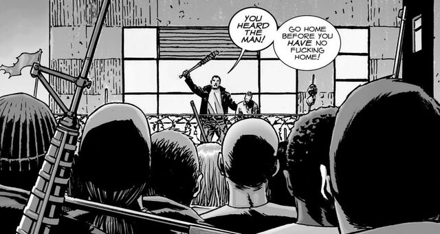 File:Negan, Gregory & Soldiers 116.jpg