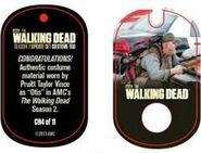 The Walking Dead - Dog Tag (Season 2) - Pruitt Taylor Vince CR4 (AUTHENTIC WORN COSTUME PIECE)