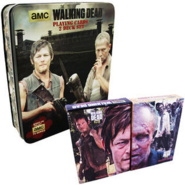 Walking Dead Playing Cards 2 Deck Set Tin