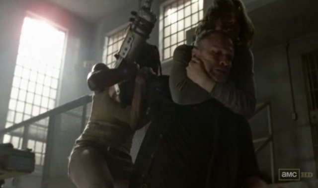 File:Michonne, Maggie and Merle 3x13.png