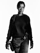 TWDSasha-Season7-Black and White