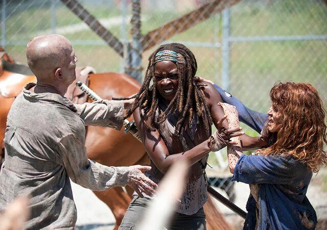 File:Michonne VS Walker.jpeg
