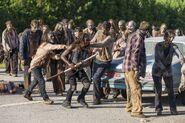 Michonne Runs Through Herd 7x09