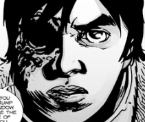 File:Issue 106 Carl Threatens Negan.png