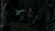 Carol with wood