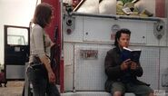 At fire truck