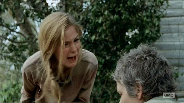 File:Walking-Dead-The-Grove-Carol-kills-zombie-Lizzie-snaps.jpg