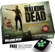 The Walking Dead Board Game The Best Defense w free set of 7 Wiz Dice