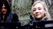 Beth with Daryl's Crossbow