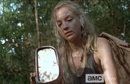 Beth with car parts in Still!
