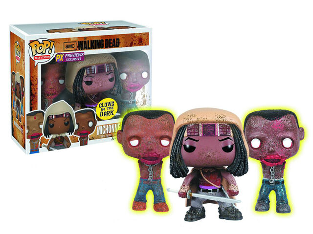File:Previews Exclusive The Walking Dead Michonne & Glow in the Dark Pet Zombies Pop! Vinyl Figure 3 Pack by Funko.jpg