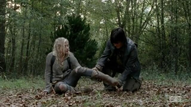 File:Beth being checked on by Daryl so cute.JPG