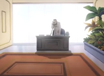 Sunako's dad answering the call from Mine