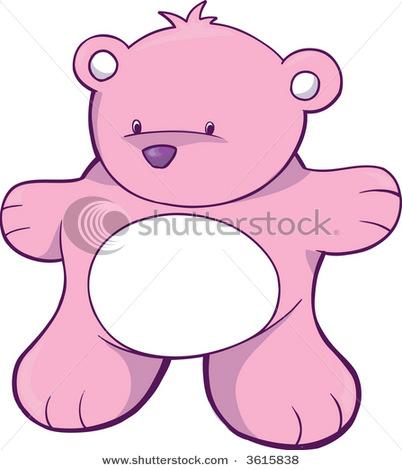 Stock-vector-pink-bear-vector-illustration-3615838