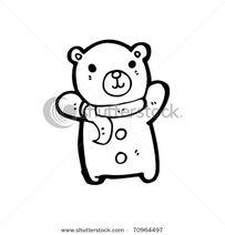 Stock-vector-bear-wearing-scarf-cartoon-70964497