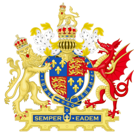 Coat Of Arms of England 1558 - 1603