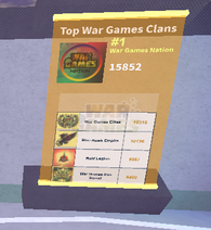 Top War Games Clans
