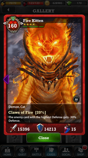 Fire Kitten 160