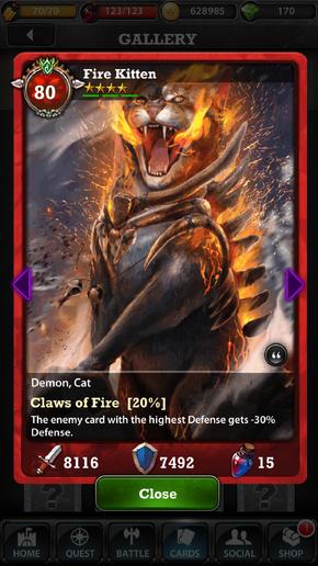 Fire Kitten 80