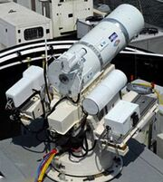 Laser cannon us navy combat weapon deck mounting