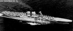 USS Saratoga- original carrier config